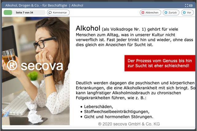 Thema Alkohol für Beschäftigte