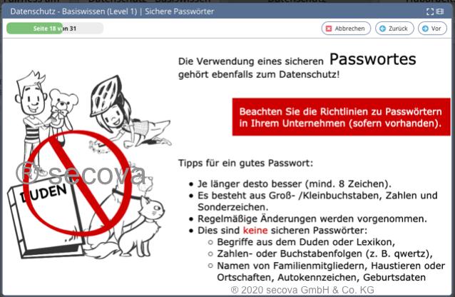 Unterweisung Datenschutz Basiswissen