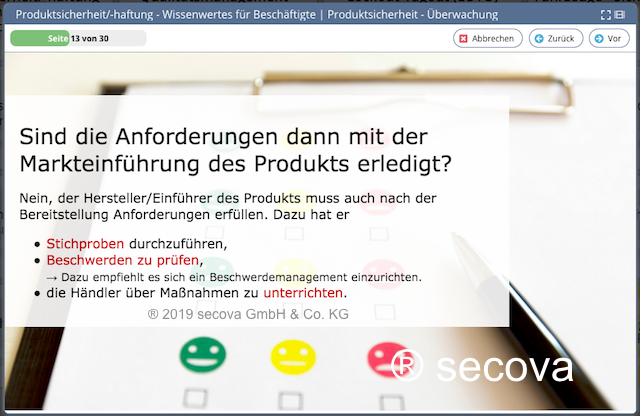Unterweisung Produktsicherheit und -haftung