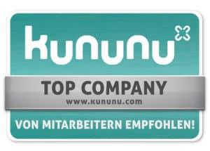 kununu Auszeichnung als top company