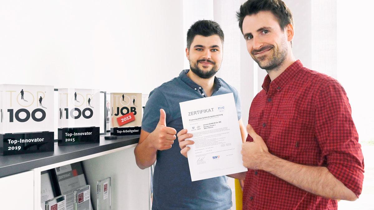 TÜV Zertifikat über Gefährdungsbeurteilung von Secova