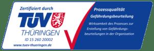 TÜV Thüringen Auszeichnung Gefährdungsbeurteilung
