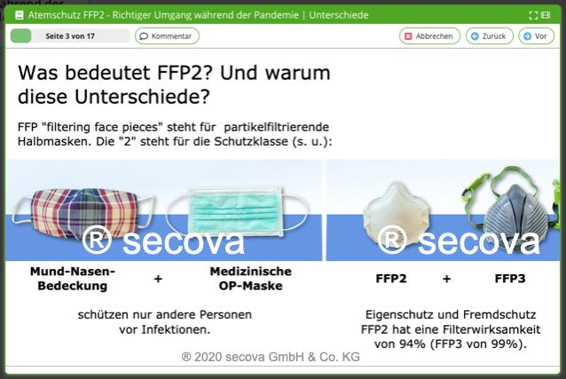 Unterweisung FFP2 Atemschutz in der Pandemie
